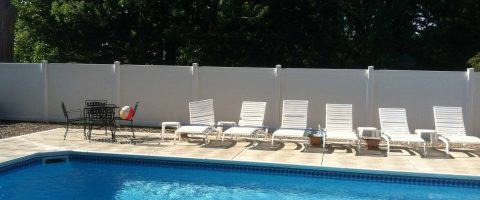 Pool fence install