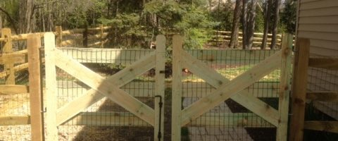 wood fence install 6