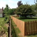 Residential fence installation picket