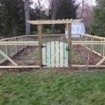 Residential fence installation garden