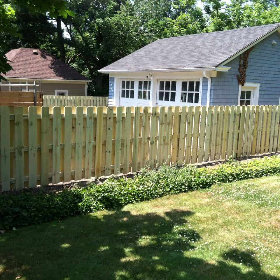 residential fence install wood picket