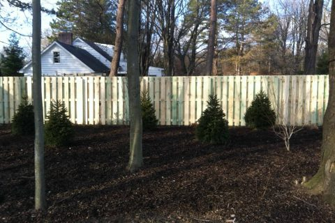 residential fence install wood