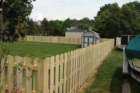 picket residential fence installation
