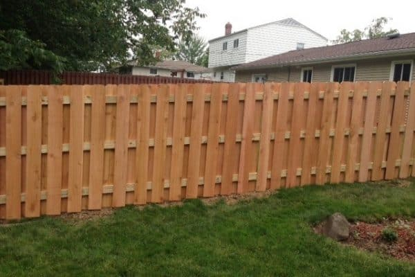 wood residential fence installation