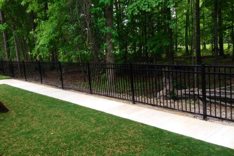 residential fence installation metal
