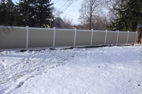 commercial fence install wood