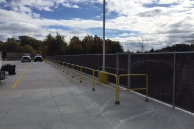 commercial fence install rails