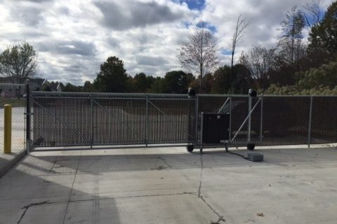 commercial fence install and gate