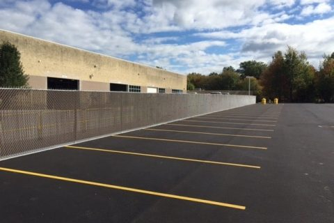 commercial fence install